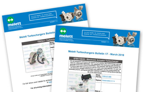 New Melett turbocharger parts
