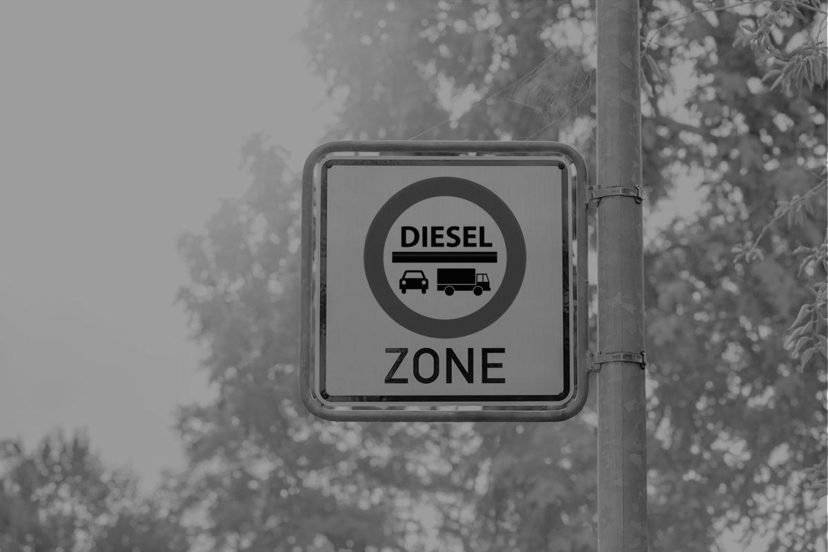 Diesel zone - stock image